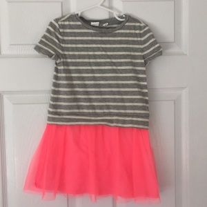 GAP kids striped dress with tulle skirt XS 4